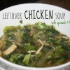 Leftover Chicken Broccoli Spinach Soup (P2-Approved, Low Carb, Paleo)