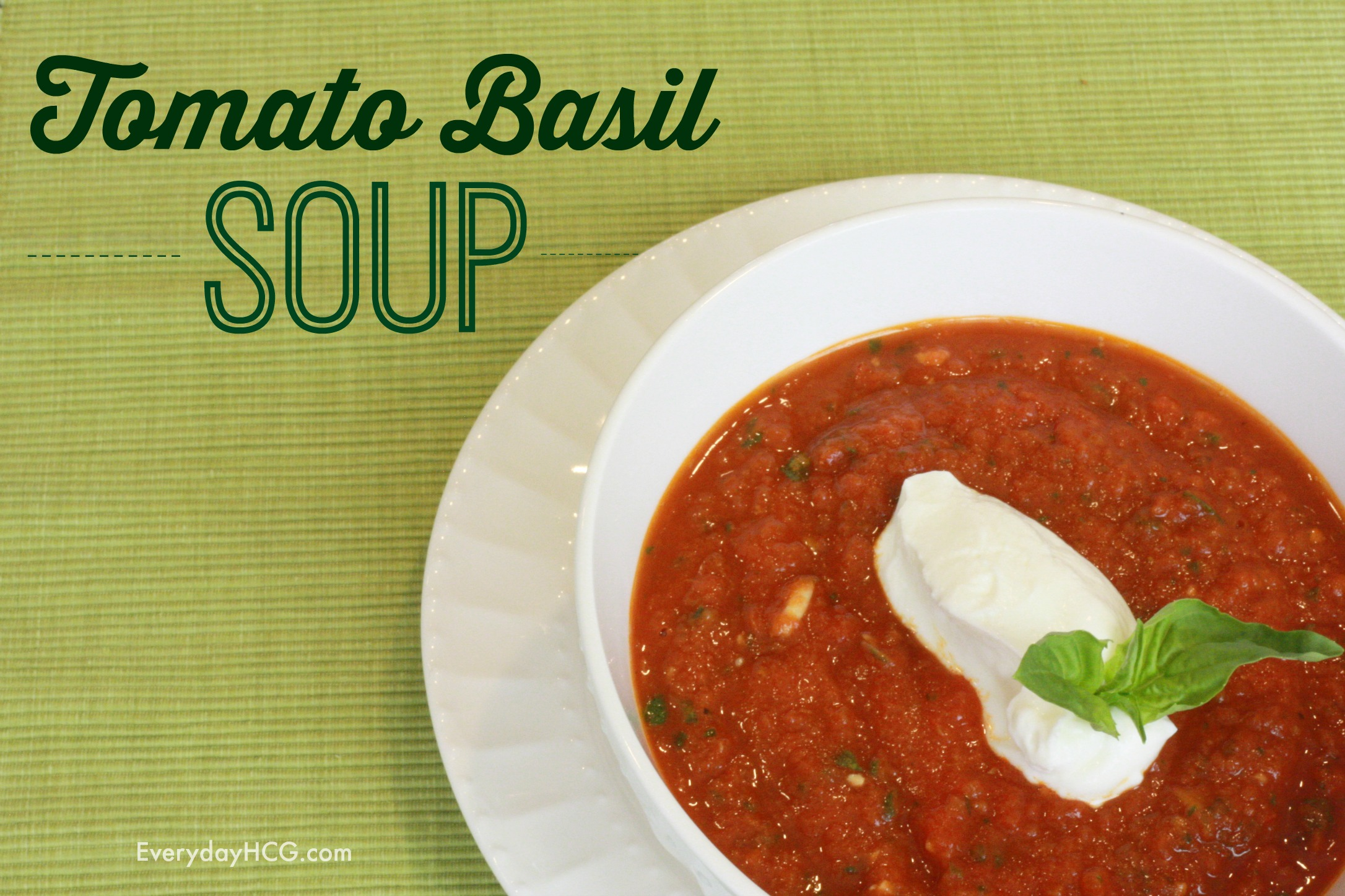 Tomato Basic Soup Revipe